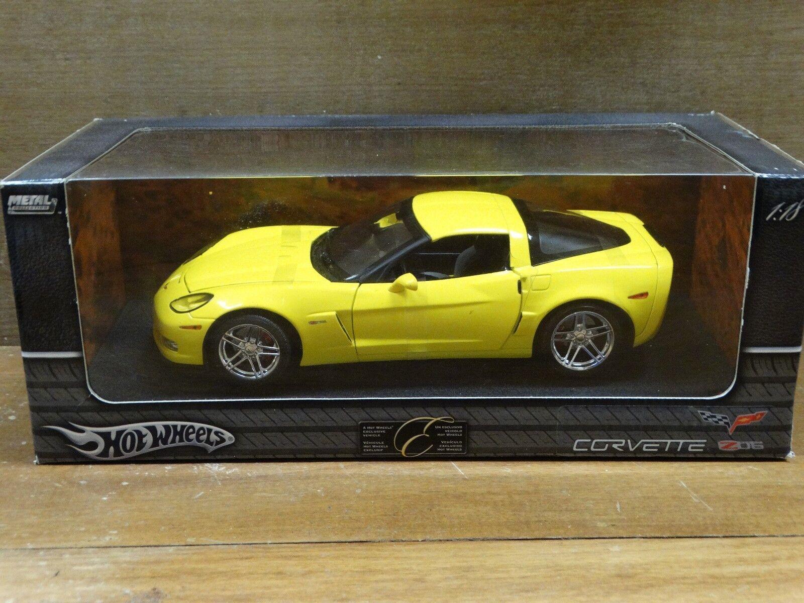 Hot Wheels Elite 2006 Chevy Corvette Z06 1 18 Scale Diecast Model Limited Car