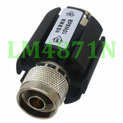 RF Coaxial Attenuator 10W Watts 15dB N Type Male to Female DC to 3.0GHZ 50 Ohm