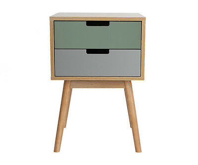 Graceful 2 Drawer Bedside Cabinet With a Choice of Drawer Colours