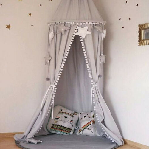 Premium Cotton Kids Bed Canopy Mosquito Net Curtains Bedding Dome Tent