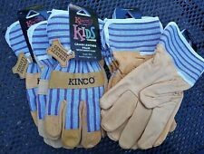 Lot Of 6 Kinco Grain Leather Palm Kids Childrens Gloves Age 7 12 New 1917