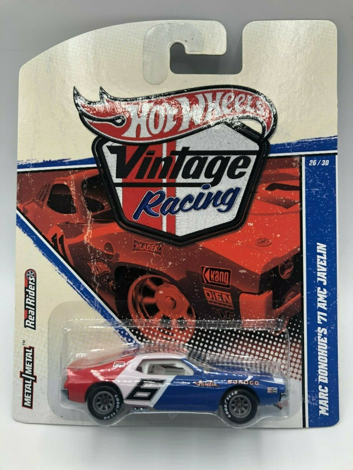 HOT WHEELS vintage Racing Marc Donohue'S 71 AMC Javelin VNM    avec Prougeecto