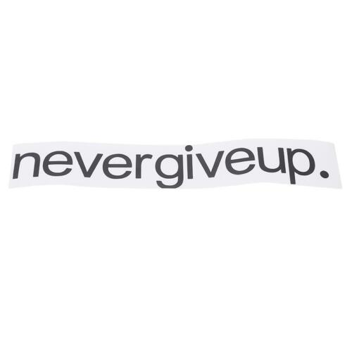 Never Give Up.Over the Home Room Door Wall Decal Sticker Quote Words Letter Q