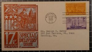 Scott E18 - 17 Cents Special Delivery - Staehle FDC - Typed Address