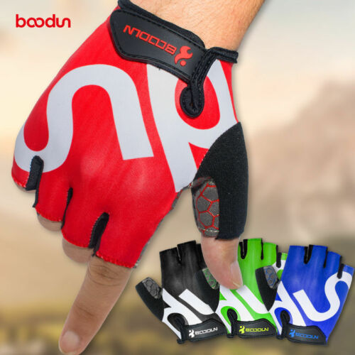 New Gloves  Bike Bicycle Cycling Riding Half Finger Gloves Shock-absorbing