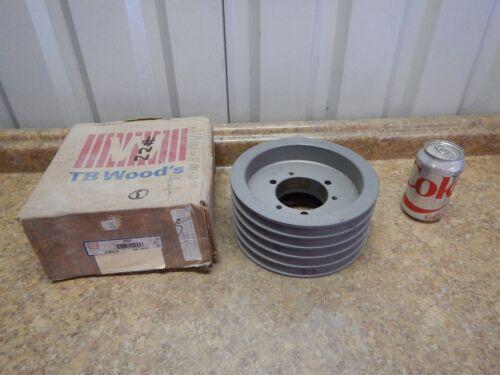 """NEW TB Woods 805B Bushing Bore V-Belt Pulley 5 Groove 8.35/"""" OD Wood/'s Sheave"""