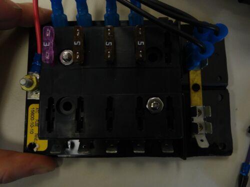GRAY MARINE BOAT PLAYCRAFT ROCKER SWITCH PANEL WITH FUSE PANEL P606N//G BLACK