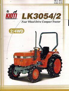 kioti lk3054 2 four wheel drive tractor sales brochure ebay rh ebay com Kubota Tractors Kioti Tractor Parts Breakdown