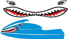 SEA DOO YAMAHA KAWASAKI JET SKI STAND UP PWC JAWS MOUTH SHARK DECAL 550 750 800