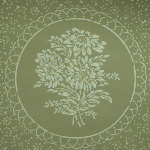 12sr Thomas Strahan Floral Medallion Graphic Historical Repro Wallpaper