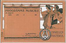CARTOLINA d'Epoca  BERGAMO - REGGIMENTALE : 73o  Fanteria  PROGRAMMA MUSICALE