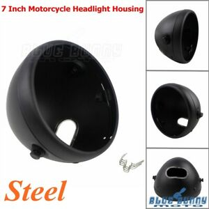 7-Inch-Motorcycle-Headlight-Housing-Headlamps-Shell-For-Harley-Softail-Fat-Boy
