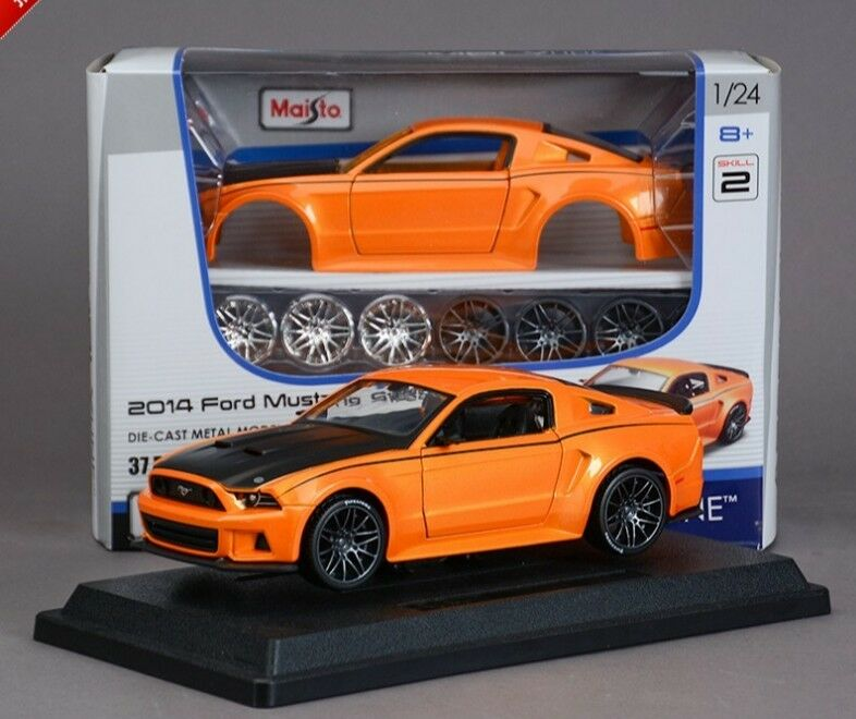 1 24 Ford Mustang Street Racer Diecast Diecast Diecast Assembly Line Metal KIT Model Car Toy 504cb8