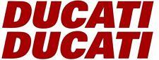 "2X Ducati Red Vinyl Sticker Decal 5"" Logo Racing Motorcycle Car"