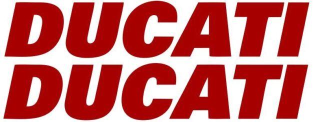 2x Ducati Red Vinyl Sticker Decal 5 Logo Racing Motorcycle Car