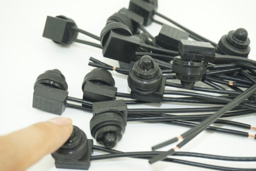 universal led lights 12v 12 volt 2 x Waterproof Push Button Switch