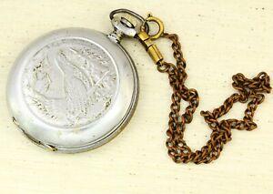 Pocket watch Molnija capercaillie open face ChChZ Watch Factory USSR Cal. 3602