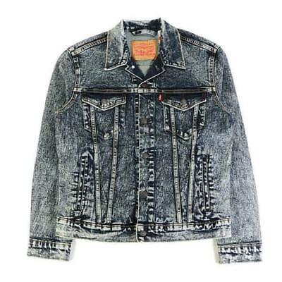 Levi S Strauss Men S Cotton Stretch Denim Trucker Button Jean Jacket 72334 0335 Ebay