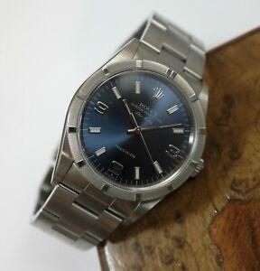 1998-Rolex-Air-King-w-Bold-Blue-Dial-Ref-14010-Runs-Great-Sharp-amp-Unpolished