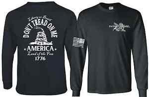 Don-039-t-Tread-On-Me-Gadsden-Snake-Flag-Political-Long-Sleeve-T-SHIRT-Dont-DTOM-Tee