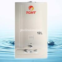 3.2 GPM 12L Natural Gas Hot Water Heater Stainless Steel Tankless Instant Boiler