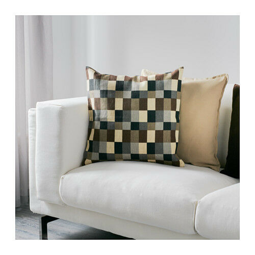 """check 100/% ramie *FREE Ship* *NEW* STOCKHOLM 20/""""x20/"""" Cushion cover beige"""
