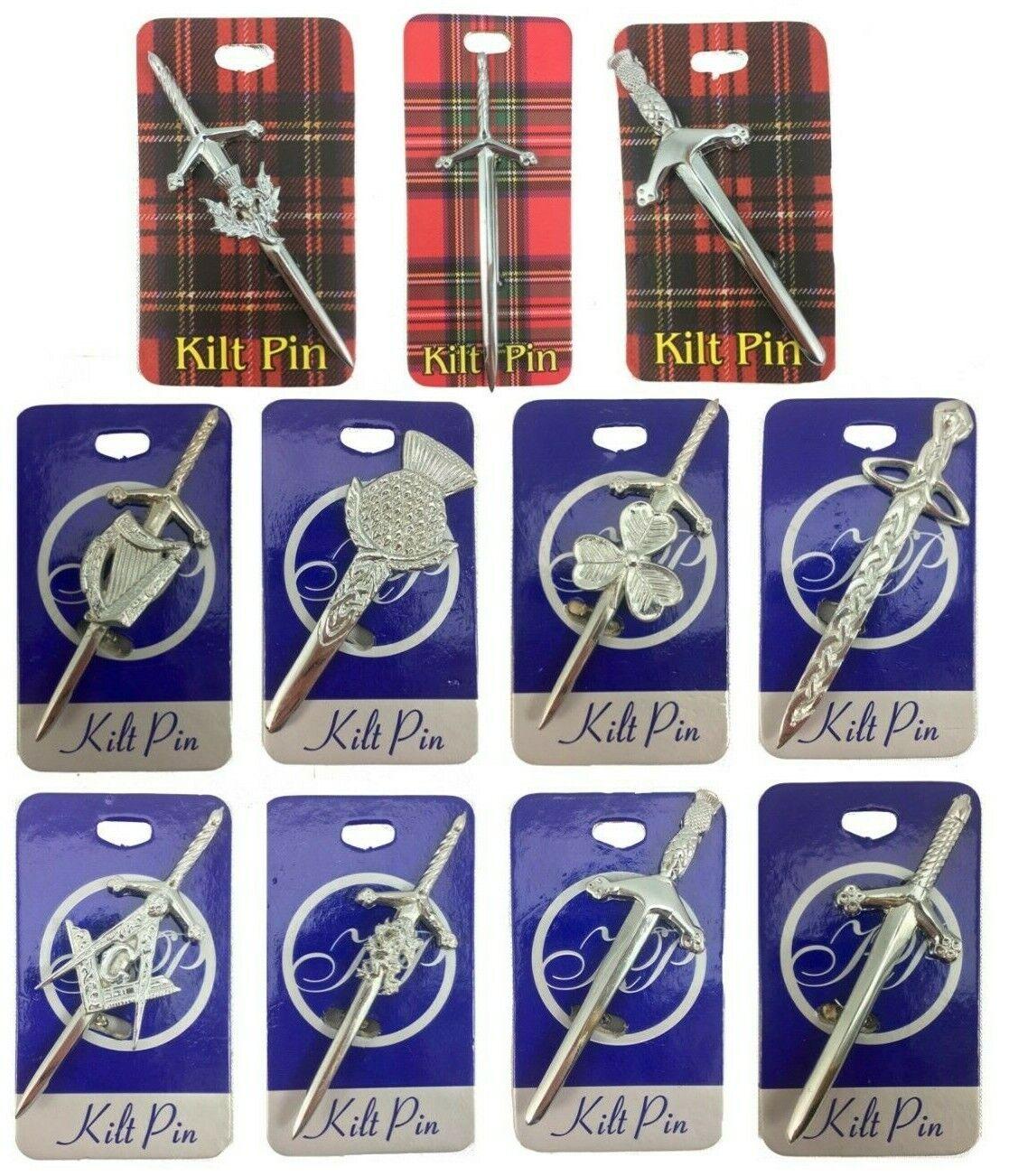 Scottish And Celtic Strong Kilt Pin For Any Heavy Kilt New Various Designs