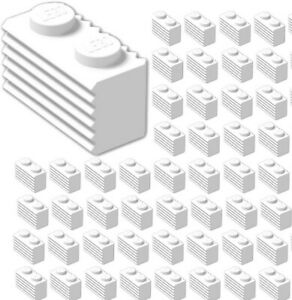 Lego-x50-WHITE-1x2-Modified-Grille-Bricks-Part-Pieces-Bulk-Lot