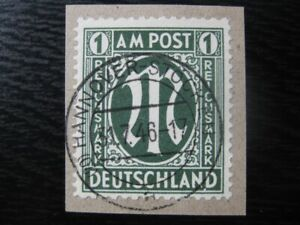 GERMANY-Mi-35-scarce-used-AMG-stamp-CV-660-00