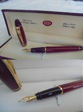 AURORA IPSILON PENNA STILOGRAFICA ROSSA E DORATA +SCATOLA Red Ball Pen +Box ORIG