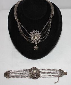 1 Trachen Grandelcollier Halsband & Armband 835 Silber Schrecklicher Wert