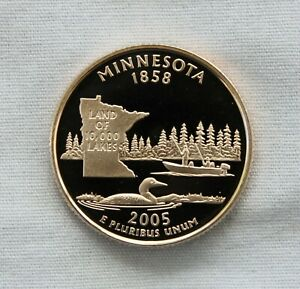 2005-S CAMEO PROOF MINNESOTA STATE QUARTER FREE SHIP ON ADDITIONAL COINS