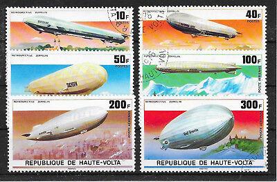 H502 Burkina-fasso-obervolta/ Zeppeline Minr 625/30 O StraßEnpreis Briefmarken Afrika