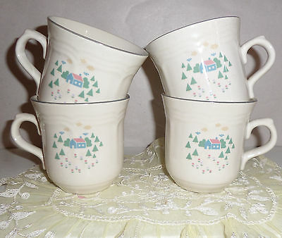 Sango Home Sweet Home Pattern Cups - Set of 4 - Add to your set !