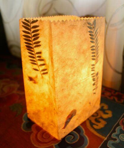 Lokta Paper Luminary Bags 5 packs Tea Light Bags Candle Bags Lantern Bags