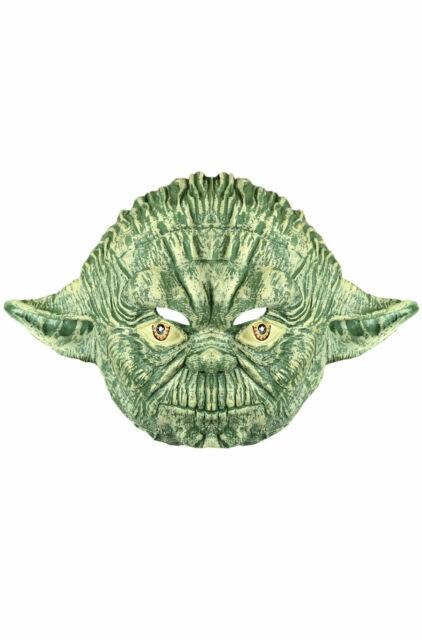 Costume Halloween Yoda.Yoda 3 4 Mask Face Vinyl Star Wars Jedi Teen Mens Halloween Costume Accessory For Sale Online Ebay