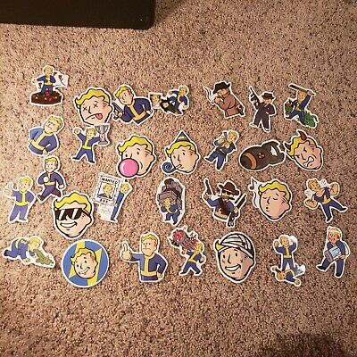 29pcs Fallout Stickers Sticker Cute Character Vault Boy Nuclear Special Bomb Lot