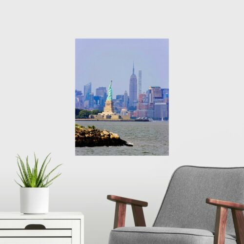 New York City Home Decor Statue Of Liberty And Empire State Poster Art Print