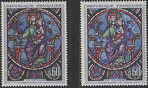 """FRANCE TIMBRE N° 1419 """" CATHEDRALE NOTRE DAME PARIS VARIETE COULEUR """"NEUFSxx TTB"""
