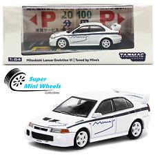 Tarmac Works 164 Mitsubishi Lancer Evolution Vi White Tuned By Mines