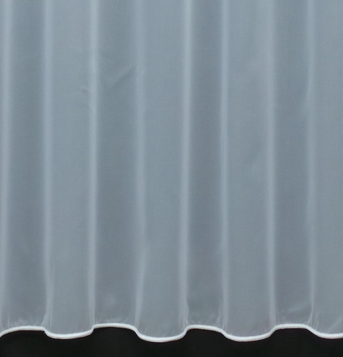 Fire Retardant Net Curtain - 1 Roll (20 meters) - Slot Top Header Weiß 81  Drop