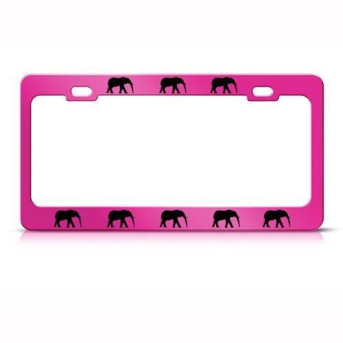 ELEPHANTS ELEPHANT Metal License Plate Frame Tag Holder