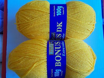 Sirdar Hayfield BONUS DK Double Knitting Wool 0978 SUNFLOWER Yarn 100g