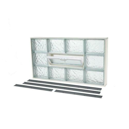 Ice Pattern Constructed Of Durable Glass Block Window Built In Vent Convenience