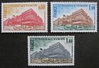"FRANCE STAMP TIMBRE SERVICE N° 53/55 "" BATIMENT CONSEIL STRASBOURG "" NEUFSxx TTB"