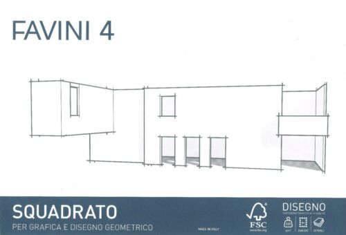 album blocco da disegno Favini 4 liscio squadrato 220 gr 20 fg 24X33 cm D4