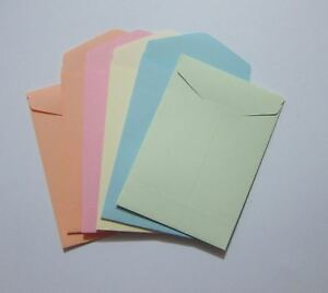 "Handmade seed envelopes 2-3/4"" x 4"" small mini coin packet money storag gum flap"