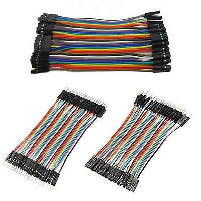 Dupont Wire Male to Male Male to Female Female to Female Jumper Cable 120x10cm5H