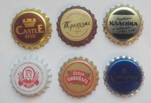 6 Unused Bottle Caps Ukraine