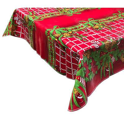 RED Nataluna Tovaglia Antimacchia 479025 impermeabile natalizia in PVC 120x180cm